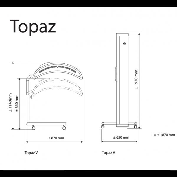 topaz v12 home stand up sunbed tanning bed